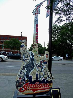Photograph - Cleveland Indians Guitar by Michiale Schneider