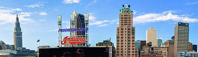 Sports Royalty-Free and Rights-Managed Images - Cleveland Indians Skyline Panorama by Gregory Ballos