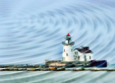 Boating Digital Art - Cleveland Lighthouse II by Kenneth Krolikowski