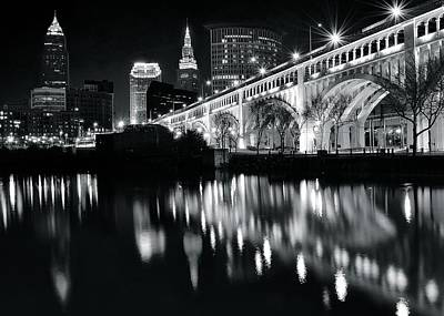 Photograph - Cleveland Monochrome Delight by Frozen in Time Fine Art Photography