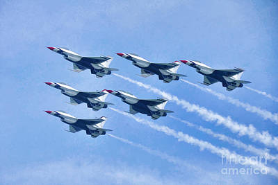 Photograph - Cleveland National Air Show - Air Force Thunderbirds - 1 by Mark Madere
