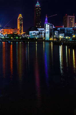 Cleveland Nightly Reflections Art Print