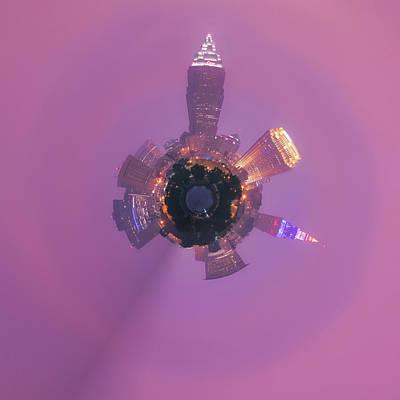 Photograph - Cleveland Ohio Little Planet  by Emmanuel Panagiotakis