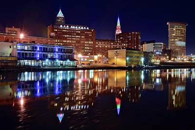 Photograph - Cleveland On The River by Frozen in Time Fine Art Photography