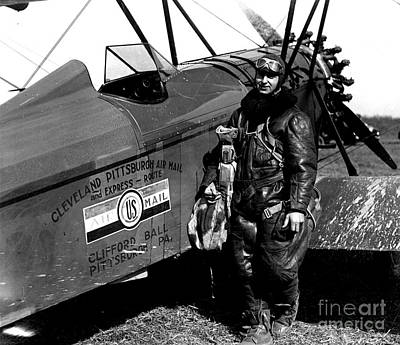 Photograph - Cleveland Pittsburgh Air Mail Aviator 1920 by Peter Gumaer Ogden Collection