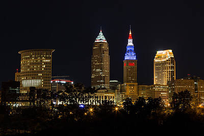 Photograph - Cleveland Red White And Blue by Dale Kincaid