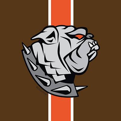 Digital Art - Cleveland-refuse To Surrender Sports Fan Crest by Joe Barsin