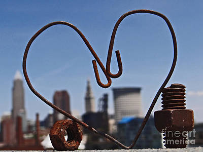 Photograph - Cleveland Rusty Love by Mike Bruckman