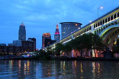 Photograph - Cleveland Skyline by Ann Bridges