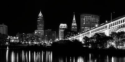 City Scenes Royalty-Free and Rights-Managed Images - Cleveland Skyline by Dale Kincaid