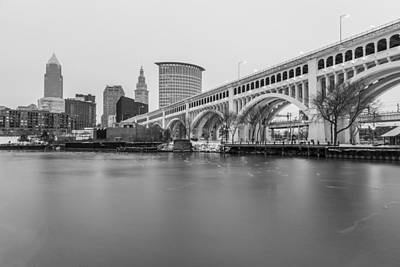 Photograph - Cleveland Skyline In Black And White  by John McGraw