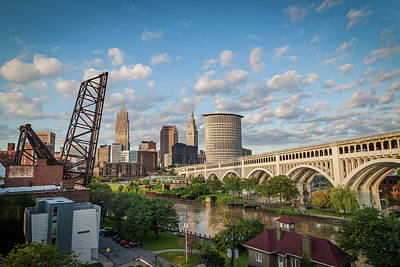 Photograph - Cleveland Skyline Vista by Lon Dittrick