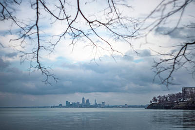 Cleveland Skyline With A Vintage Lens Art Print