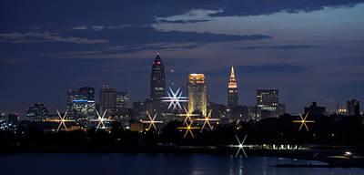 Photograph - Cleveland Starbursts by Stewart Helberg