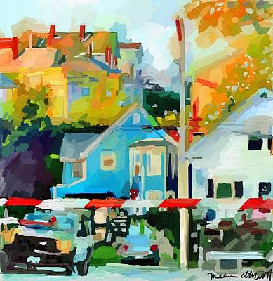 Painting - Cleveland Street Gloucester, Ma by Melissa Abbott