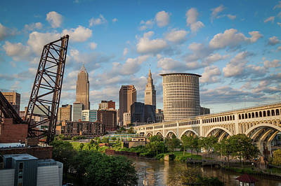 Cleveland Summer Skyline  Art Print