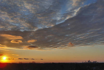 Photograph - Cleveland Sunset From The Bell Tower by Mike Bruckman