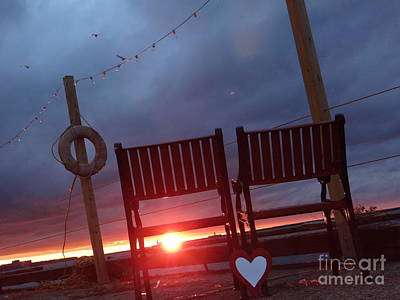 Photograph - Cleveland Sunset Love by Mike Bruckman