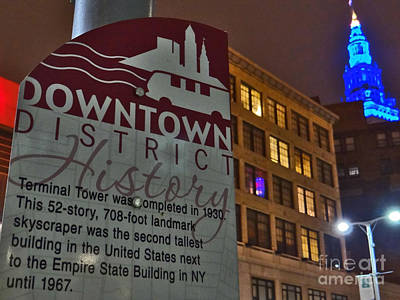 Photograph - Cleveland Terminal Tower History by Mike Bruckman