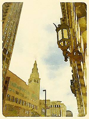 Cleveland Terminal Tower Art Print by Janet Dodrill