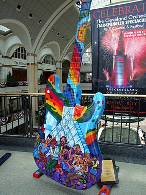 Photograph - Cleveland Tower City Guitar II by Michiale Schneider