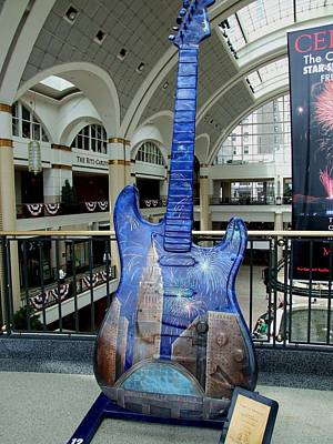 Photograph - Cleveland Tower City Guitar IIi by Michiale Schneider