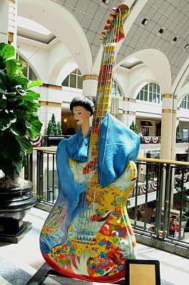 Photograph - Cleveland Tower City Guitar V by Michiale Schneider