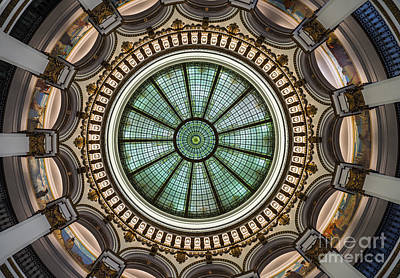 Airport Maps - Cleveland Trust Rotunda Building Ceiling by Kenneth Lempert