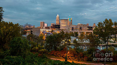 Cleveland Wide View Art Print by Frank Cramer