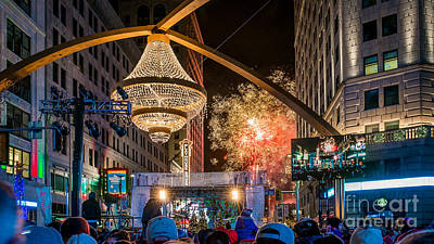 Cleveland Playhouse Square Winterfest Fireworks 2015 Art Print by Frank Cramer