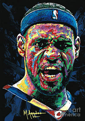 Lebron James Painting - Cleveland's Pride by Maria Arango