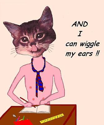 Clever Cat Art Print by Bethwyn Mills