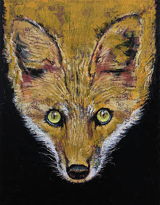 Red Fox Painting - Clever Fox by Michael Creese