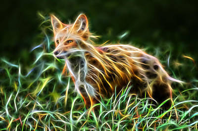 Red Fox Mixed Media - Clever by Marvin Blaine