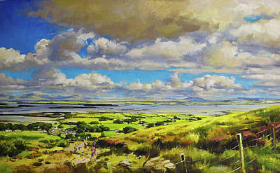 Patrick Painting - Clew Bay From The Foot Of Croagh Patrick by Conor McGuire