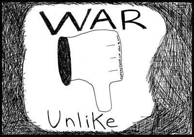 Terrorism Drawing - Click Here To Stop A War by Yasha Harari