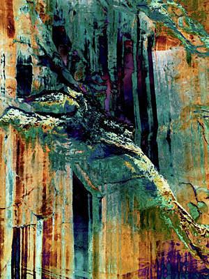 Digital Art - Cliff 2 by David Hansen