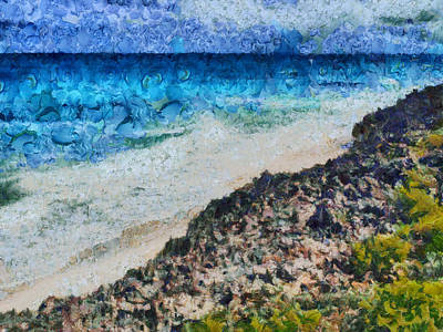 Rusty Trucks - Cliff and water by Ashish Agarwal