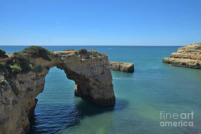 Cliff Arch In Lagoa Beach Art Print