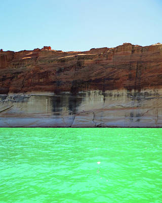 Cliff At Lake Powell Art Print