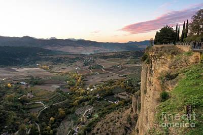 Photograph - Cliff At Ronda Malaga by Perry Van Munster