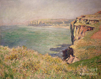 Edge Painting - Cliff At Varengeville by Claude Monet