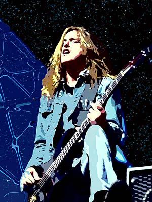 Digital Art - Cliff Burton Of Metallica by Joy McKenzie
