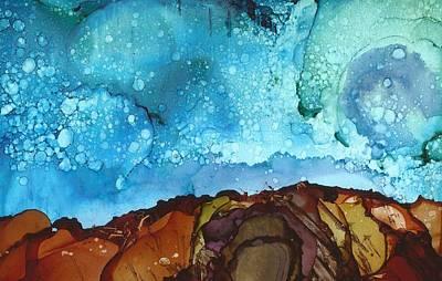 Painting - Cliff Diver by Joy Dorr