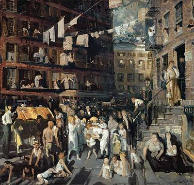 Abstract Painting - Cliff Dwellers, By George Bellows by Celestial Images