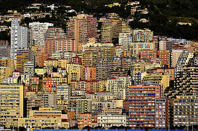 Cliff Dwellers Of Monte Carlo Art Print