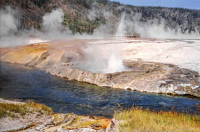 Photograph - Cliff Geyser Black Sand Basin Yellowstone National Park by NaturesPix