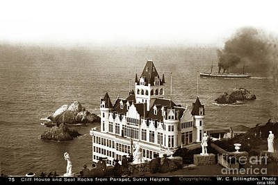 Photograph - Cliff House And Seal Rocks From Parapet, Sutro Heights. 1896 by California Views Mr Pat Hathaway Archives