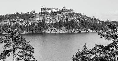 Photograph - Cliff House at Lake Minnewaska, 1900 by The Hudson Valley