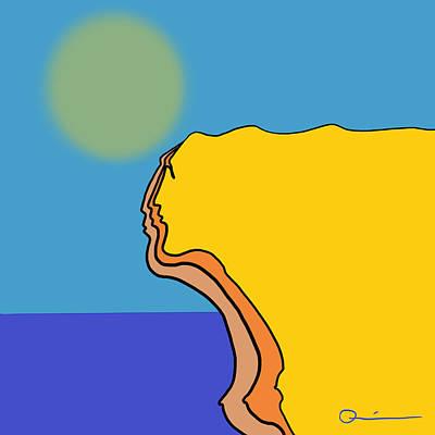 Digital Art - Cliff by Jeff Quiros
